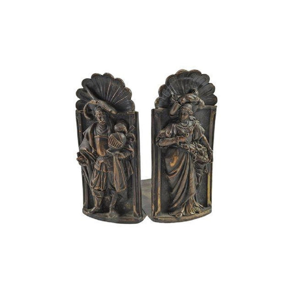 Vintage English Royal Court Couple Bookends