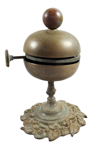 Antique Brass Hotel Counter Bell
