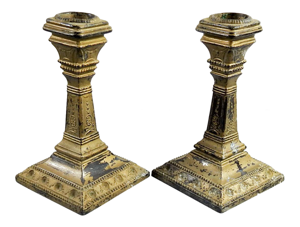 Regency Style Vintage Candlesticks - A Pair