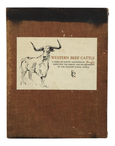 Western Beef Cattle: A Series of Eleven Paintings by Tom Lea Book