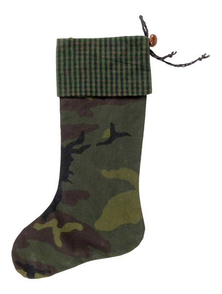 Custom Camouflage Christmas Stocking