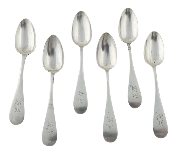 Sterling Silver Antique Demitasse Spoons - Set of 6