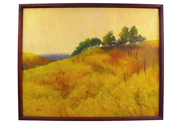 Golden Fields Landscape Oil on Linen