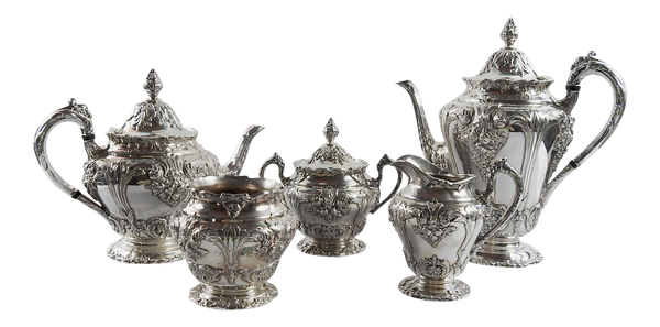 Silverplate Reed & Barton Tea & Coffee Set - Set of 5