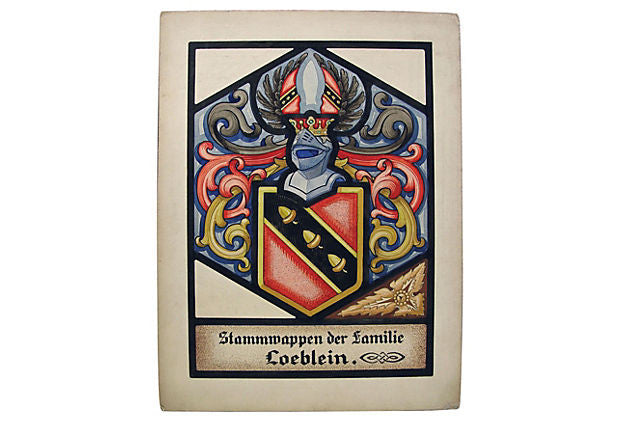 Loeblein Family Crest by Oswald Fell