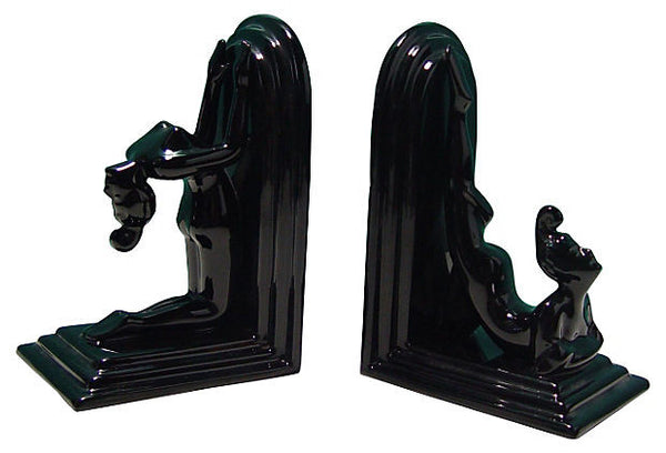 Black Deco Bookends - Artifax antiques & design