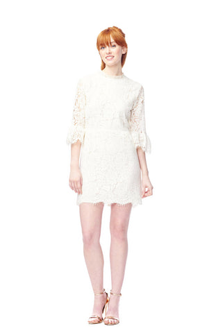 Bell Sleeve Lace Sheath Dress