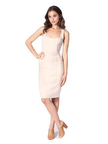 Bodycon Dress With Seams