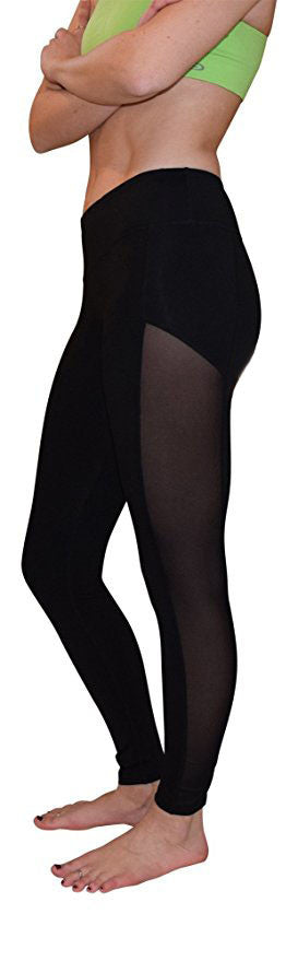 Kristen Mesh Yoga Pants (Black)