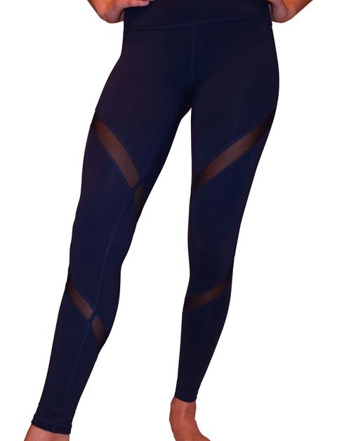 Aznive Mesh Leggings - Navy Blue