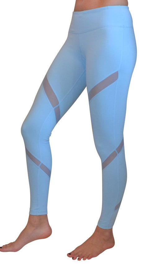 NEW - Aznive Mesh Leggings - Light Blue