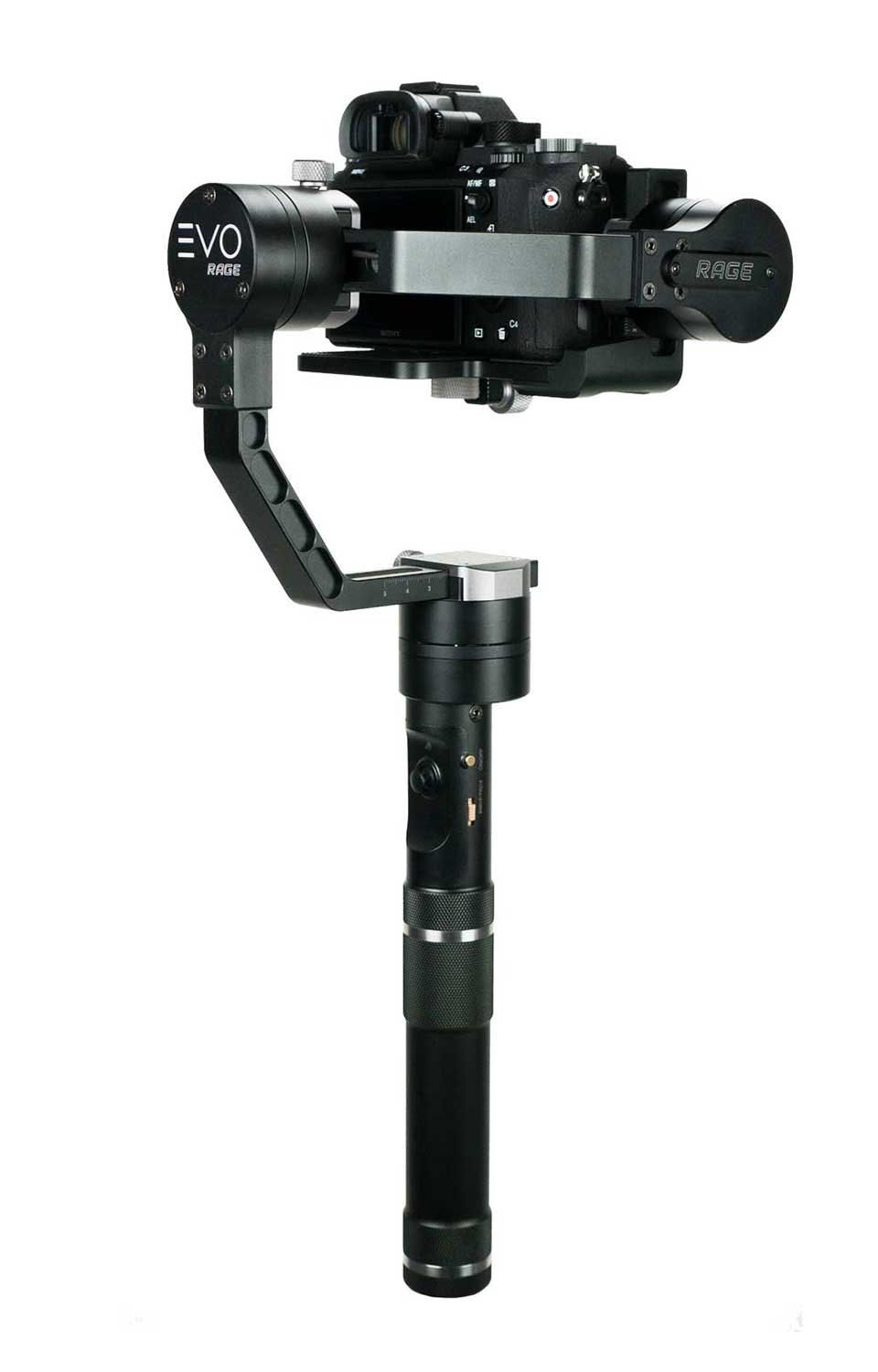 EVO Rage 3-Axis Handheld DSLR gimbal for mirrorless cameras Backside Controls
