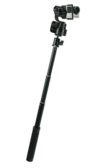 EVO SS gimbal for GoPro with extension handle