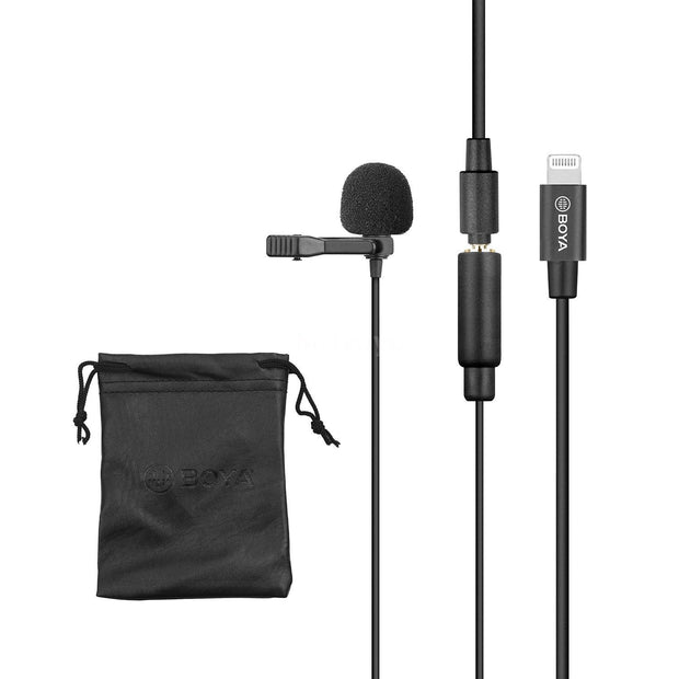 BOYA BY-M2 Omnidirectional Condenser Clip-On Lavalier Microphone for iOS Devices Microphone BOYA