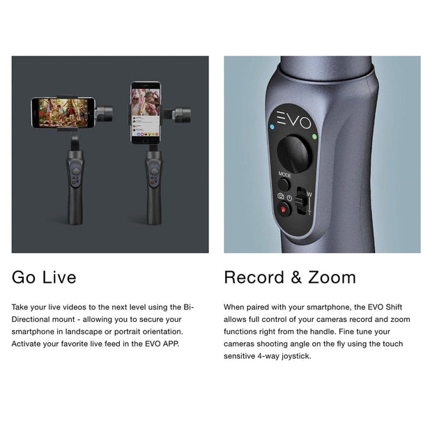 EVO SHIFT Camera Stabilizer with case compatible with iphone and android
