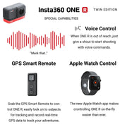 Insta360 ONE R Twin Edition with Invisible Selfie Stick Bundle Camera Bundle Insta360