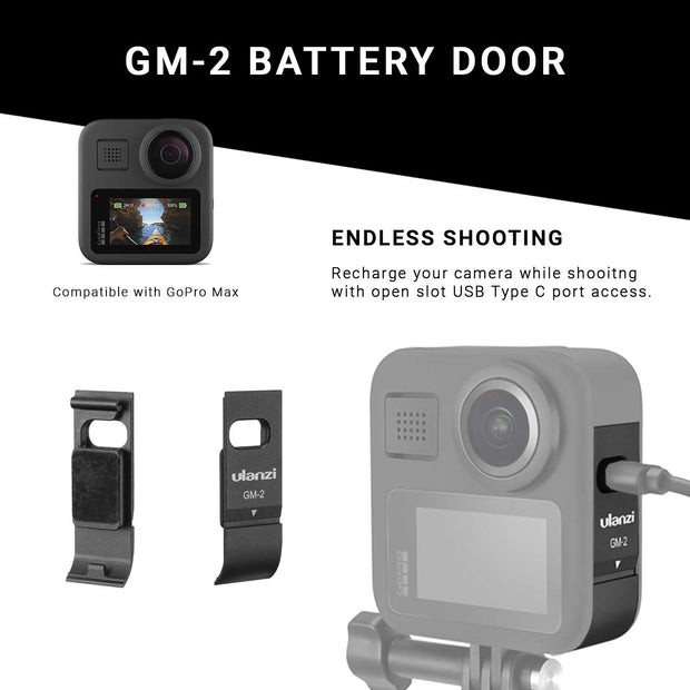 Open Battery Door Cover for GoPro Max Ulanzi