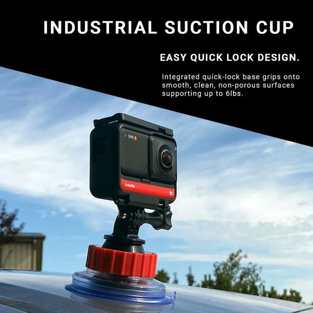 Suction Cup Mount for GoPros, Action Cameras and Small Cameras up to 3KG (6.6lbs) Mounts Ulanzi