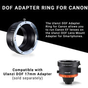 ULANZI DOF Adapter Ring for Canon Lenses Phone Lenses Ulanzi