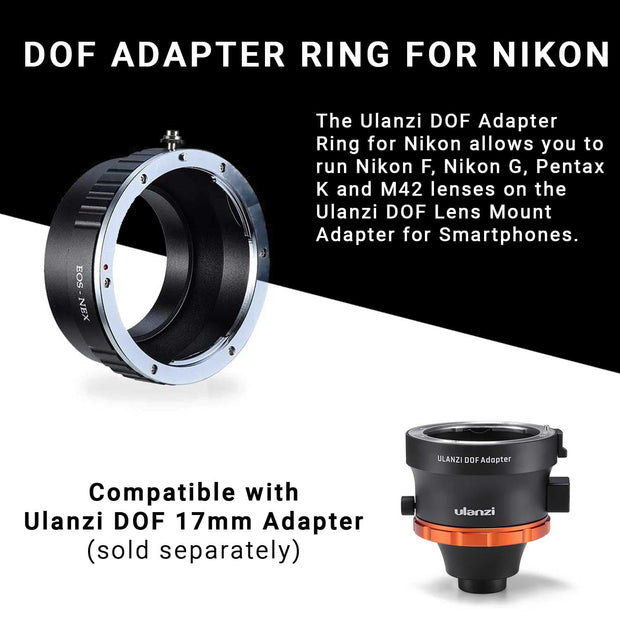 ULANZI DOF Adapter Ring for Nikon Phone Lenses Ulanzi