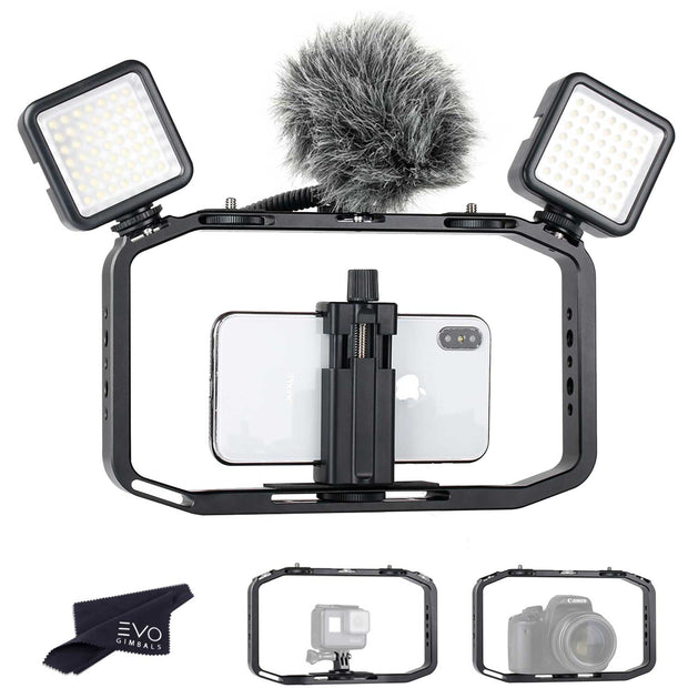 Ulanzi M-Rig Film Making Kit (CAGE + MIC + 2X Lights) ULANZI