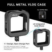 ULANZI Metal Cage for GoPro Max Camera Cages Ulanzi