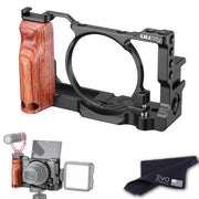 UURig Camera Cage for Sony DSC-RX100 VI/VII with Wooden Handgrip Camera Cages Ulanzi