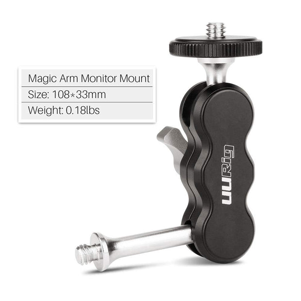 UURig R002 Aluminum Magic Swivel Arm Mount Mounts Ulanzi
