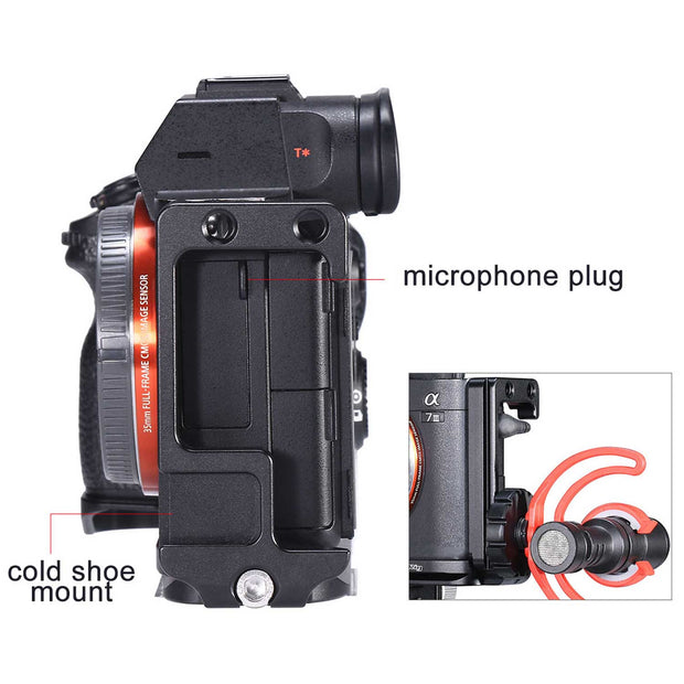 UURig R013 Quick Release L-Plate for Sony A7III & A7RIII Camera Cages Ulanzi