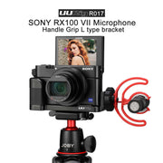 UURig Vlog Microphone Handle Grip L Type Bracket for SONY RX100 VII Camera Cages Ulanzi