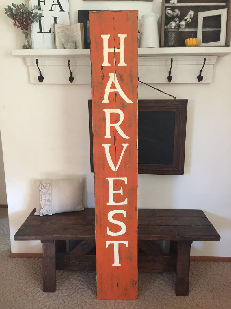 Harvest Tall Indoor/Outdoor Wood Sign