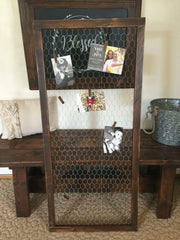 Galvanized Memo Board Photo Display