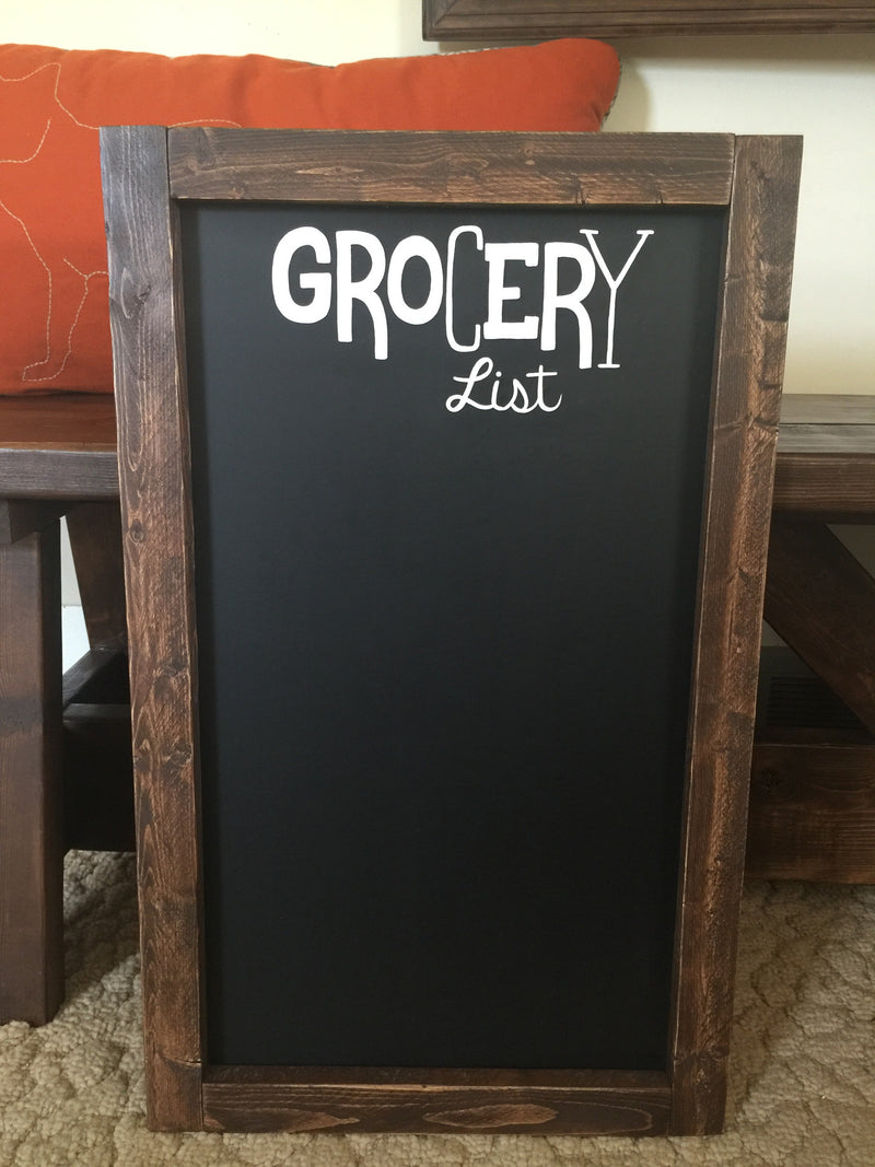 Grocery List Framed Chalkboard