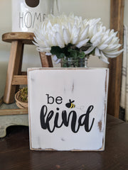 Be Kind Standing Wood Block