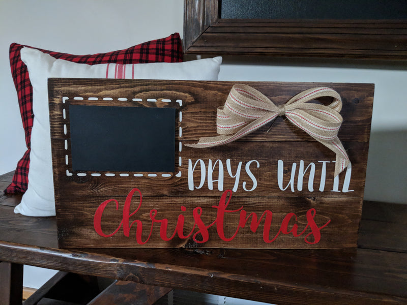 Chalkboard Days Until Christmas Holiday Sign