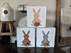Easter Bunny Standing Wood Blocks