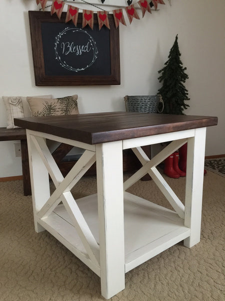 Farmhouse End Table Alex In Aurora