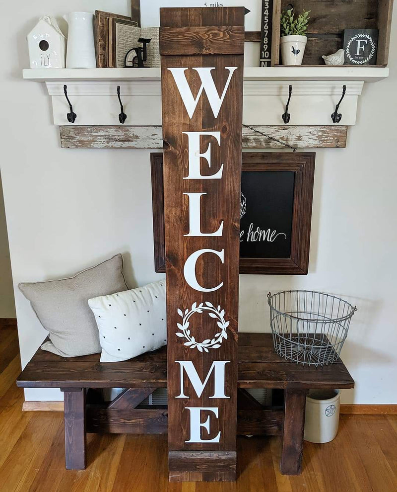 Large Welcome Wreath Sign