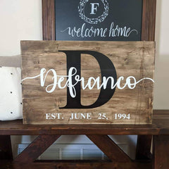 Custom Name Date Sign