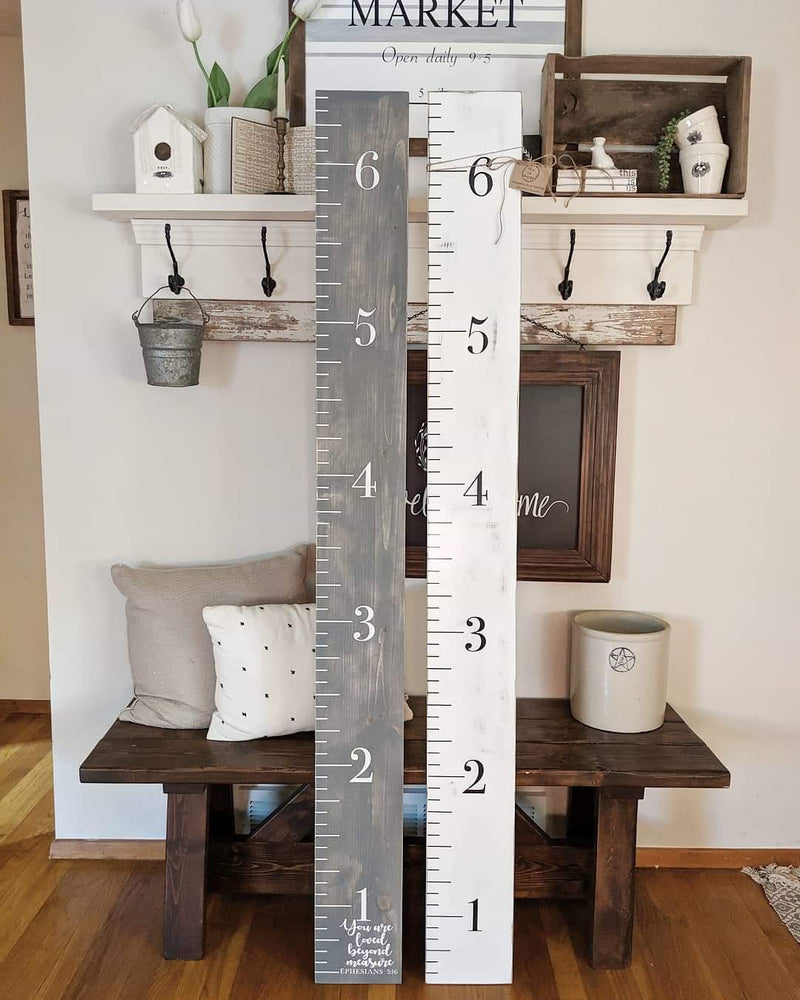 Hand Painted Ruler Growth Charts