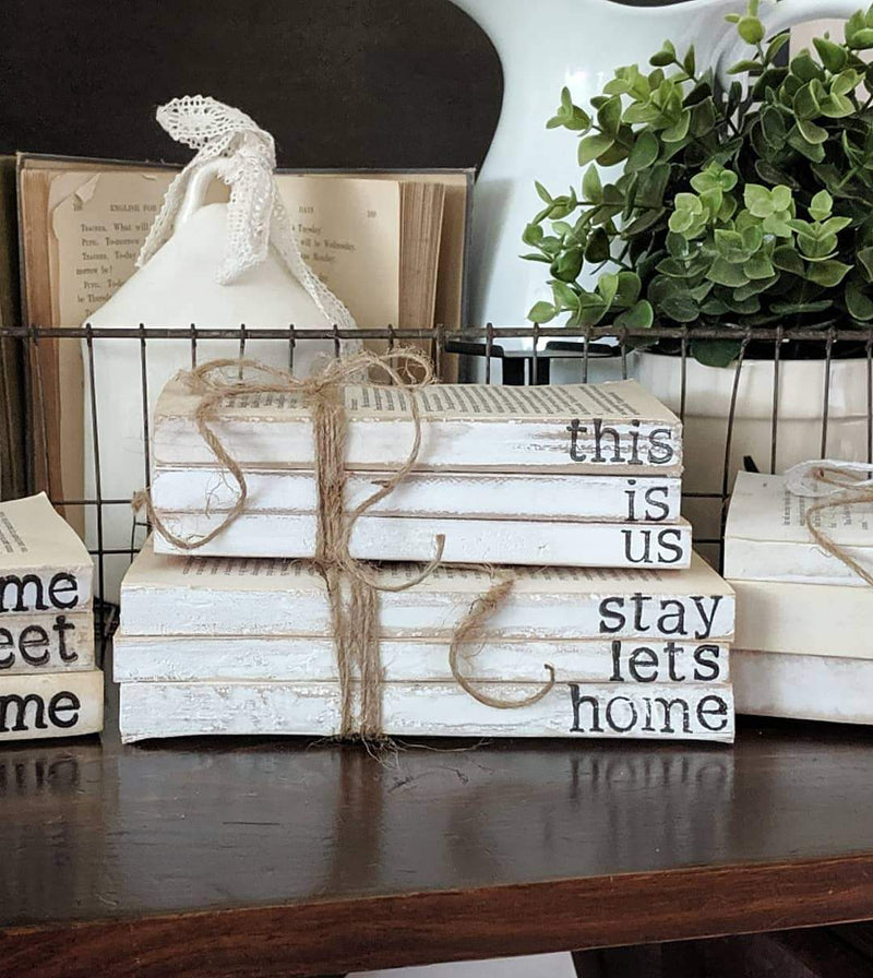 Farmhouse Stamped Books