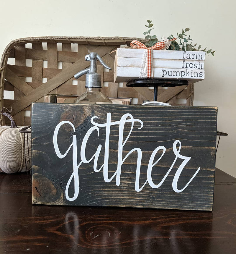 Gather Wood Blocks Signs