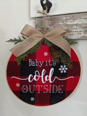Christmas Fabric Hanging Door Wreath
