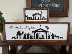 Nativity Christmas Sign