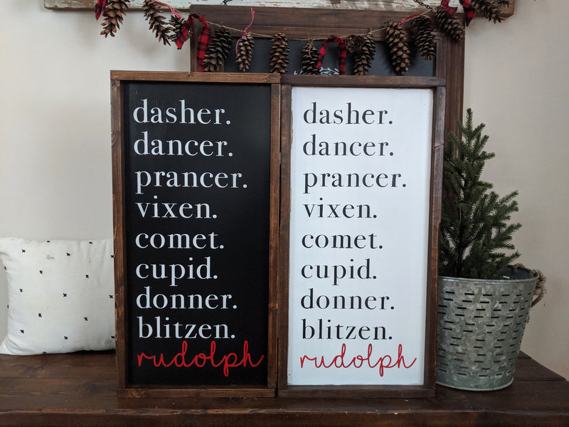 Reindeer Name Christmas Sign