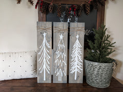 Set of three (3) Rustic Trees