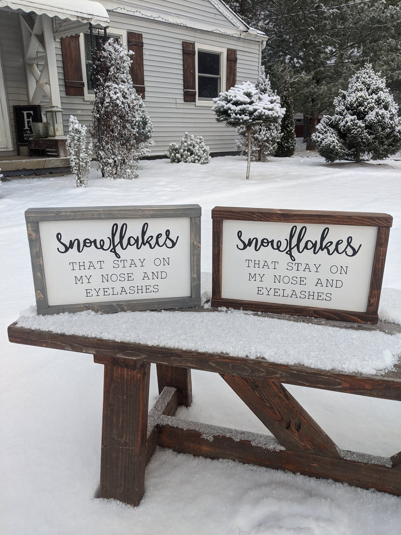 Snowflakes Winter Sign