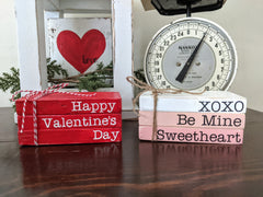 Valentine's Day Mini Wood Books