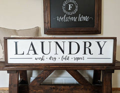 Framed Laundry Room Wood Sign