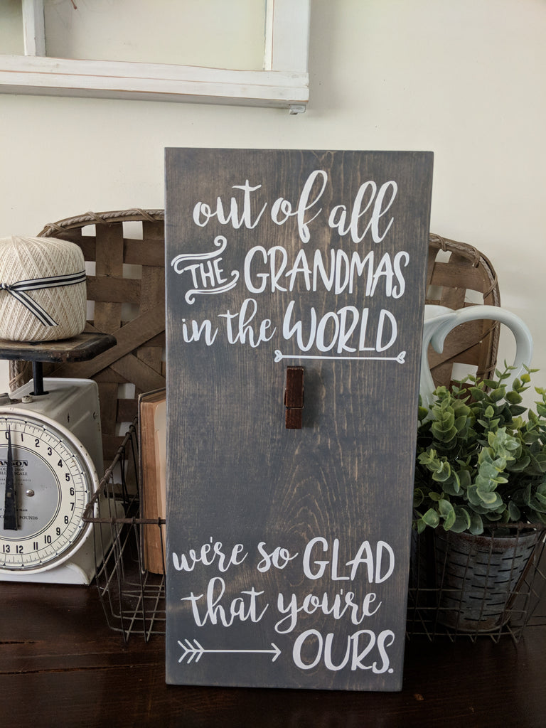 Grandma Nana Photo Display Sign